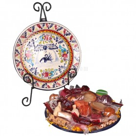 Talavera Plate filled with Cand from Puebla