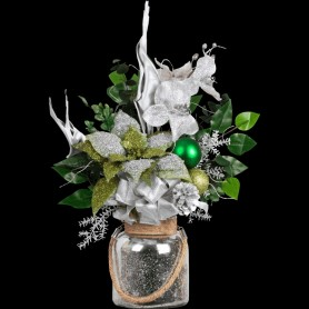 Silver Christmas Arrangement