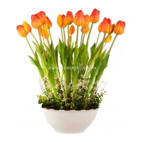 Artificial Tulipanes Artificiales Deluxe