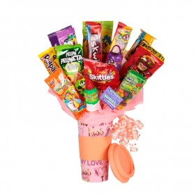 Delicious Candy bouquet in Termo Kiss and Love