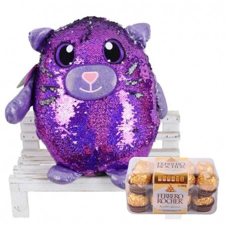 Reversible Cat with chocolates