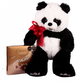 Big panda with chocolates