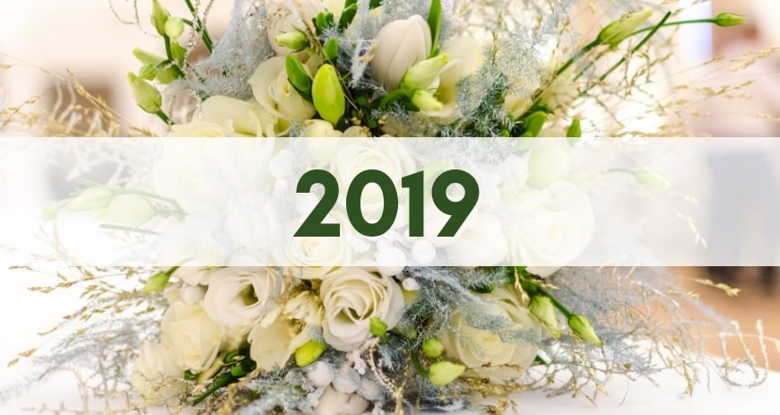 Flower trends for bridal bouquets 2019